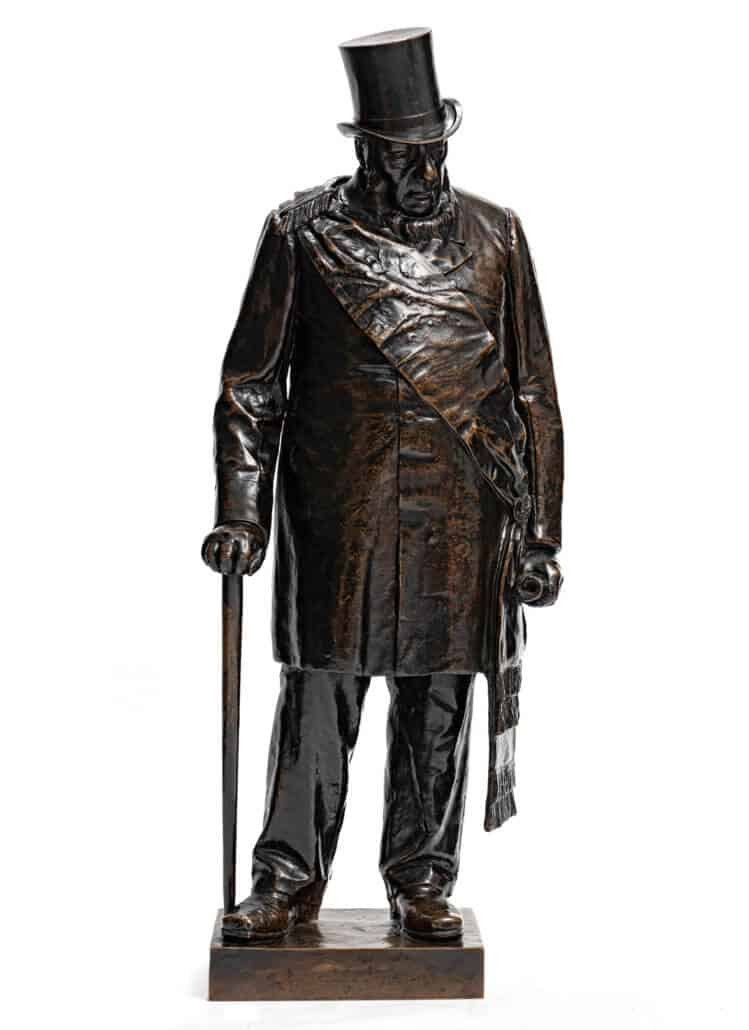 Anton van Wouw | Paul Kruger | Bronze with a dark brown patina; cast by the Nisini foundry, Rome | Height: 102cm | R 2 200 000 - 3 200 000