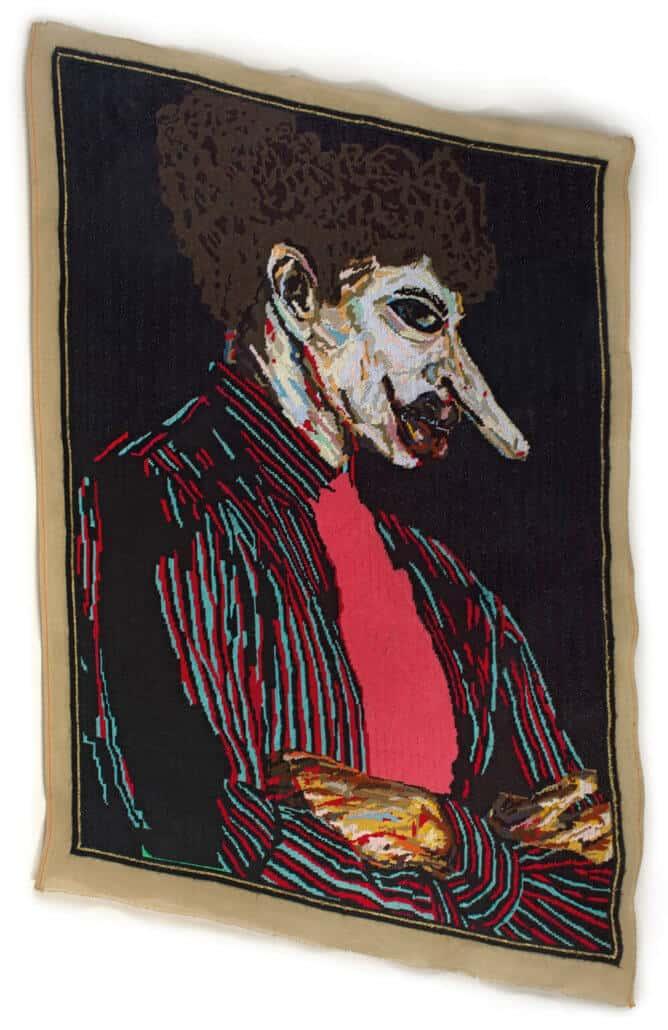 Athi-Patra Ruga | Ilulwane ... he's not one of youz | Thread on tapestry canvas | 86 x 136cm | R 200 000 - 300 000