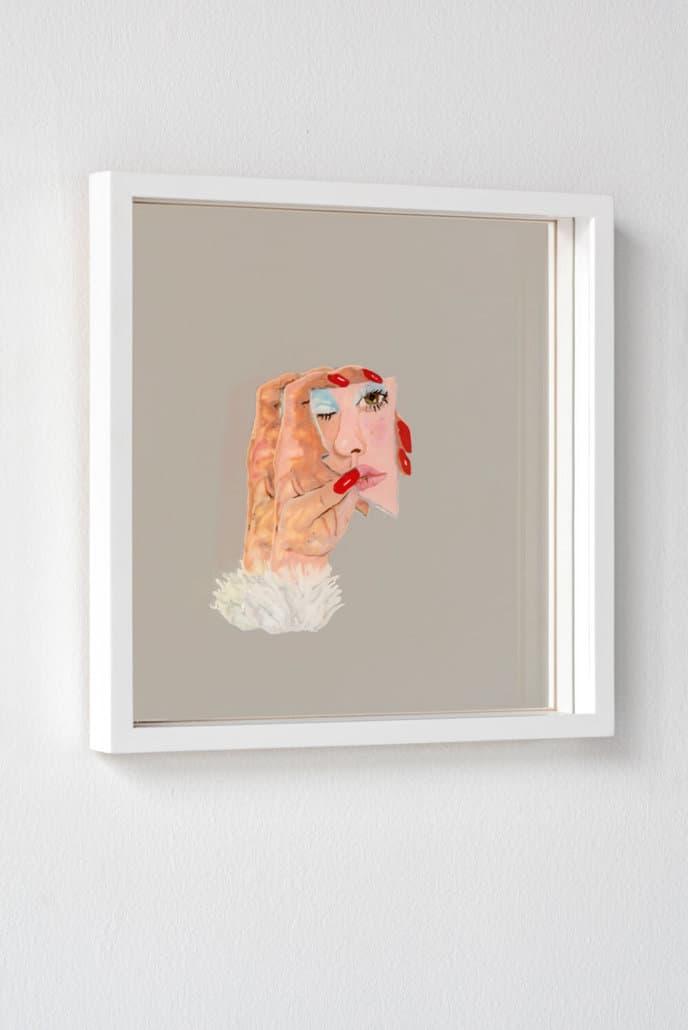 Mia Darling, Shard, 2019. Plasticine, mirror and perspex, 35 x 35cm.