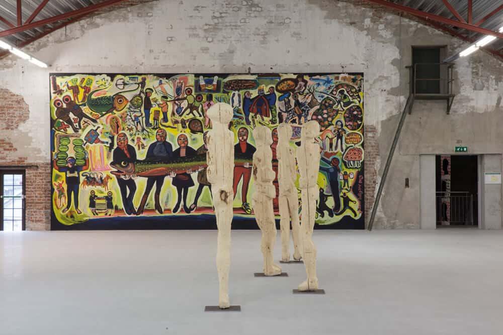 Vista dell'installazione di 'Kubatana'. Per gentile concessione di Christin Hjellegjerde.