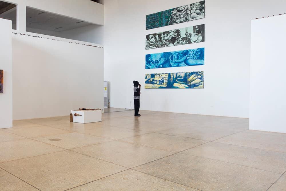 Installation view of 'Galle Winston Kofi Dawson: In Search of Something 'Beautiful'... perhaps'. Photographer: Ibrahim Mahama. Courtesy of SCCA-Tamale.