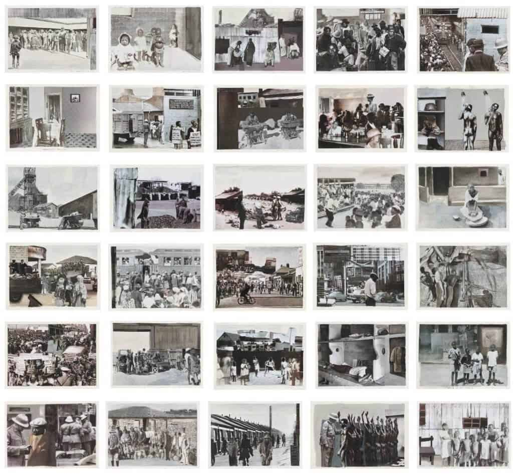 WORLD RECORD: Sam Nhlengethwa,Glimpses of the Fifties and Sixties, sold for R967 300