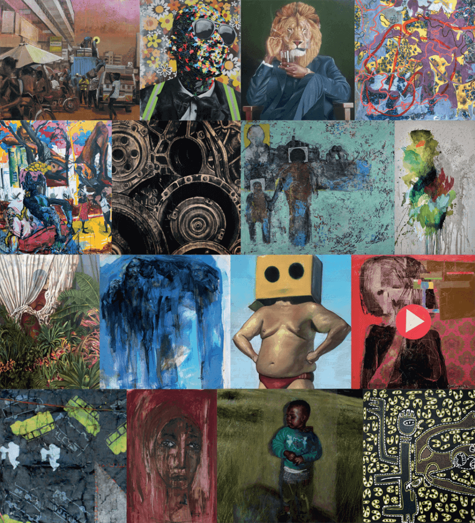 Artworks from the finalists.