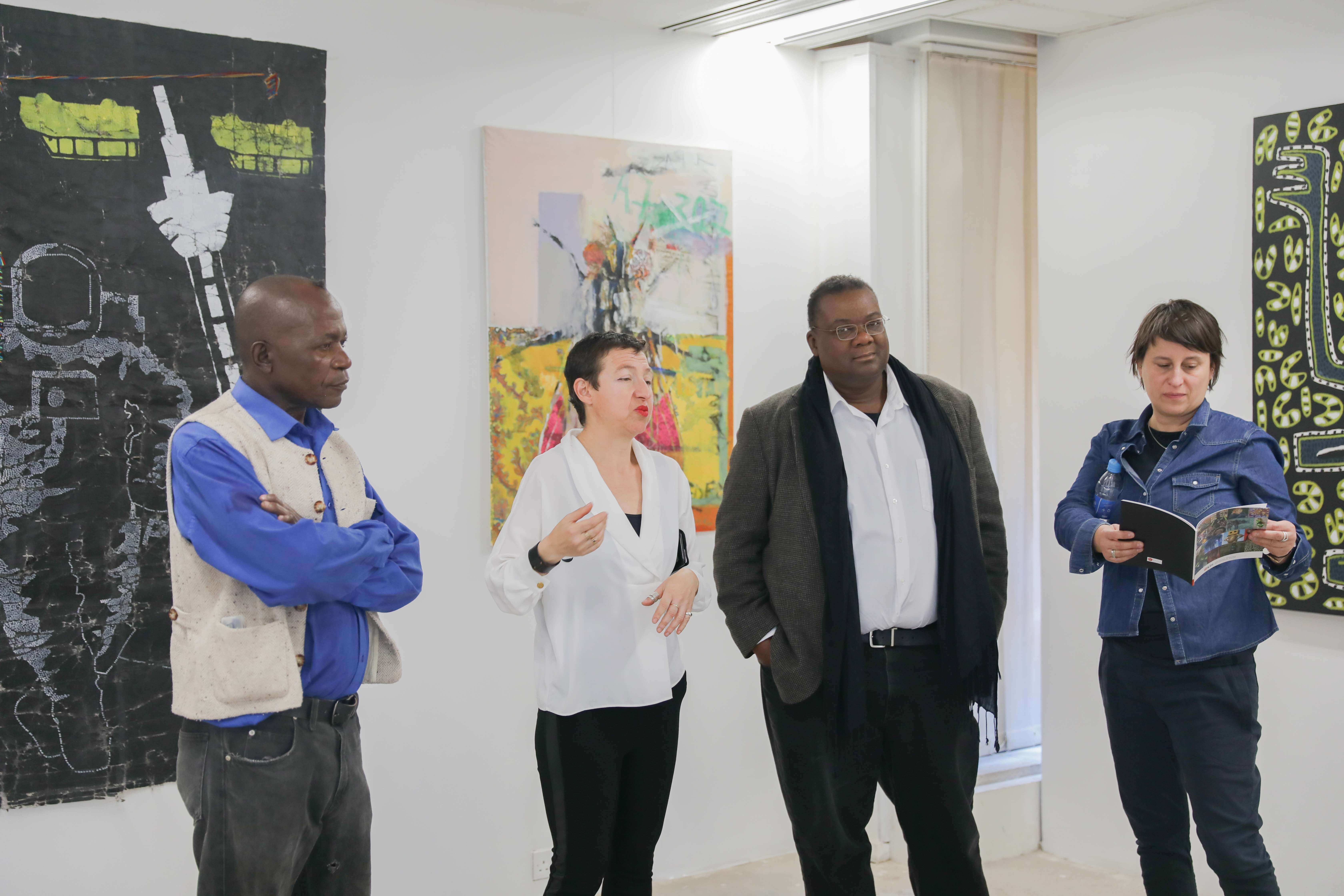 Opening of exhibition at First Floor Gallery, Harare.