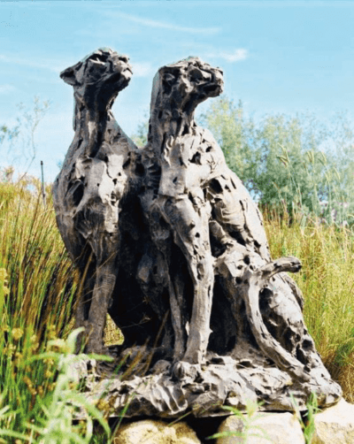 Dylan Lewis, sitzendes Gepardenpaar, Ausgabe AP3. Bild mit freundlicher Genehmigung von Kent Andreasen.