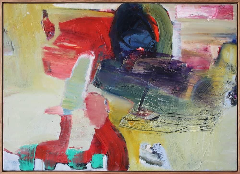 Nina Holmes, Homage, 2019. Mixed media on canvas, 52 x 72cm. Image courtesy of the artist.