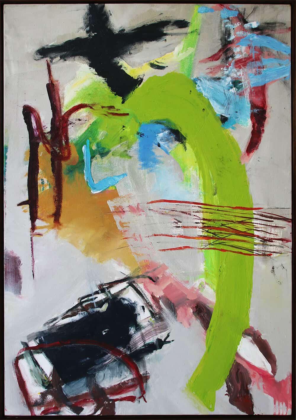 Karatara: Ambient Composition, 2019. Acryl auf Leinwand, 82.5 x 117.5 cm.