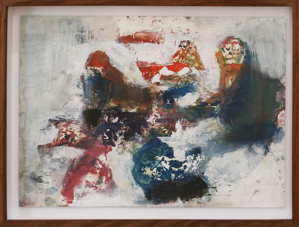 Gedämpft, 2019. Acryl auf Papier, 47 x 35 cm.