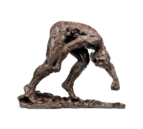 Dylan Lewis, Male trans-figure I maquette, 2009. Bronze sculpture, 60.5 x 77.5 x 24.1cm. Courtesy of the artist & Christie's.