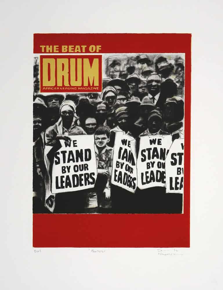 Protest, 2016. Litografia a tre colori, 52,2 x 40,2 cm. Dimensione edizione: 22.
