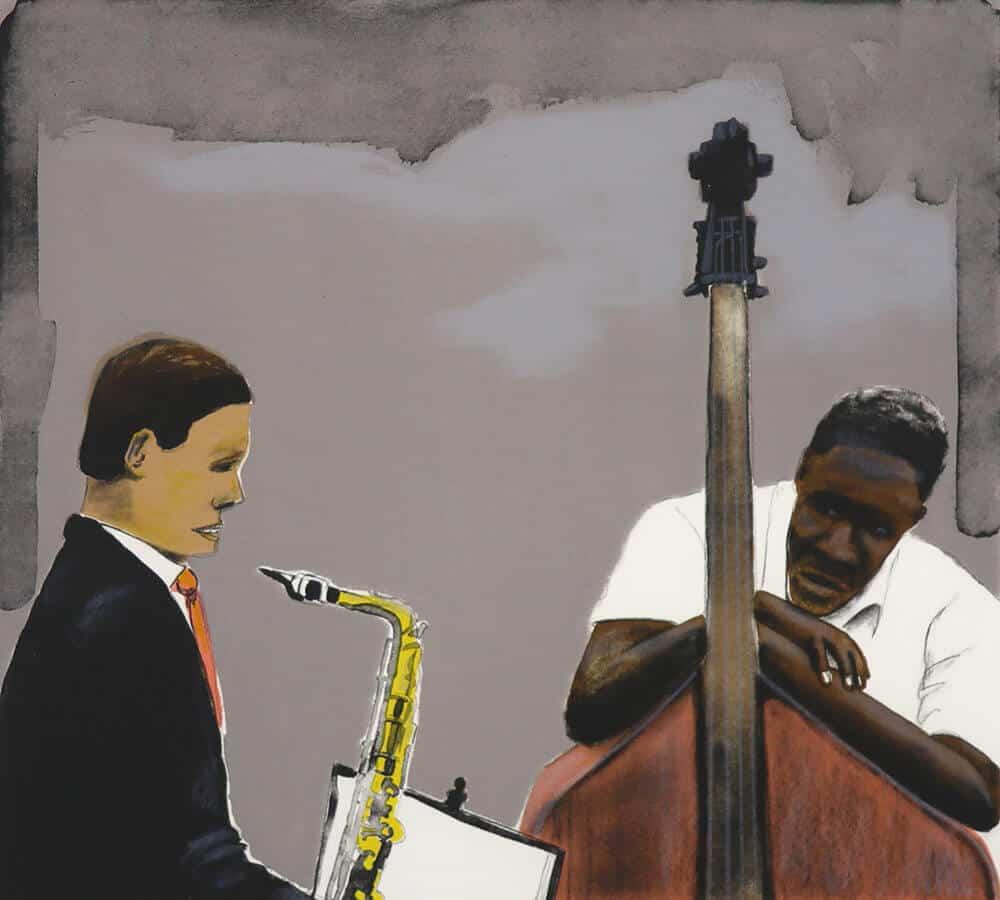 Detalle de Sam Nhlengethwa, luego tome el primer solo, 2012. Litografía de siete colores, 50 x 30 cm. Tamaño de edición: 35.