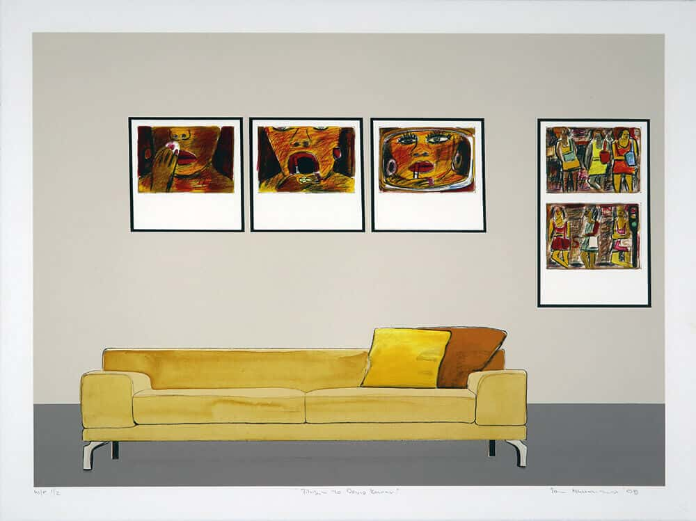 Omaggio a David Koloane, 2013. Litografia a dodici colori, 57 x 76,5cm. Dimensione edizione: 50.