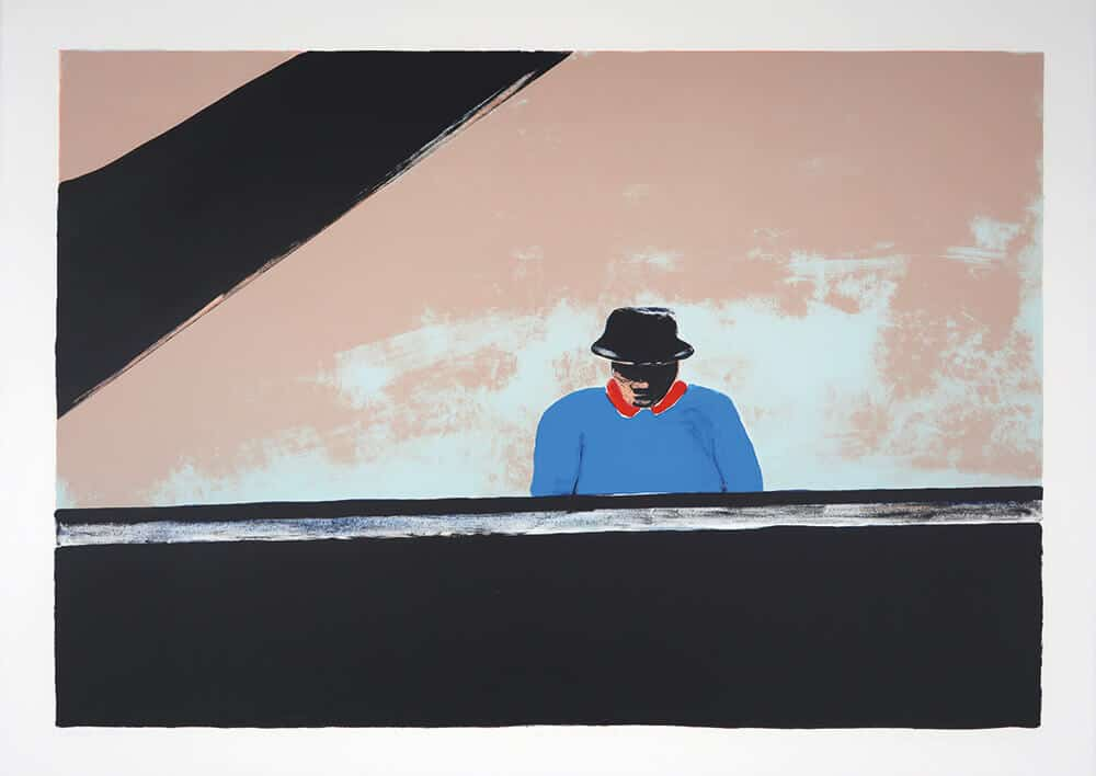 Ode to Thelonius Monk, 2002. Five colour lithograph, 76 x 106cm. Edition size: 50.
