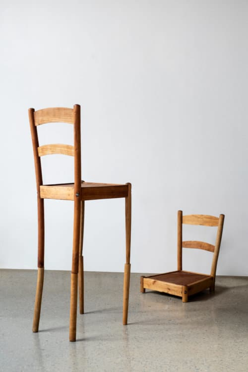 Dale Lawrence, Nameless and Friendless, 2019. Chairs, 123 x 180 x 40cm. Courtesy of the artist & SMITH.