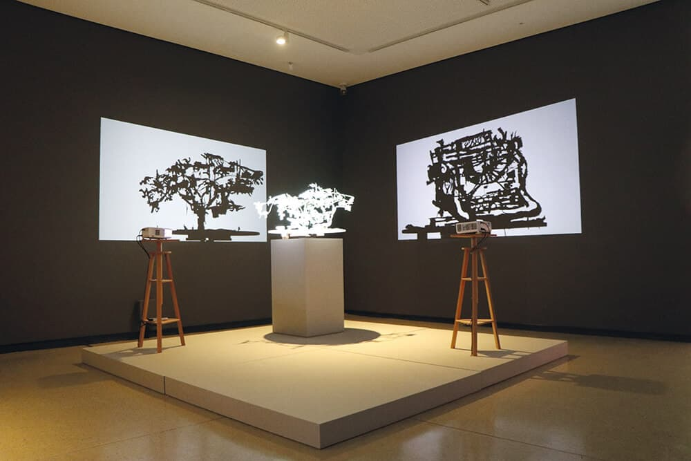 Installation view of Kentridge & Gerhard Marx construction for Waiting for Sibyl, 2019. © Brendon Bell-Roberts & ART AFRICA.