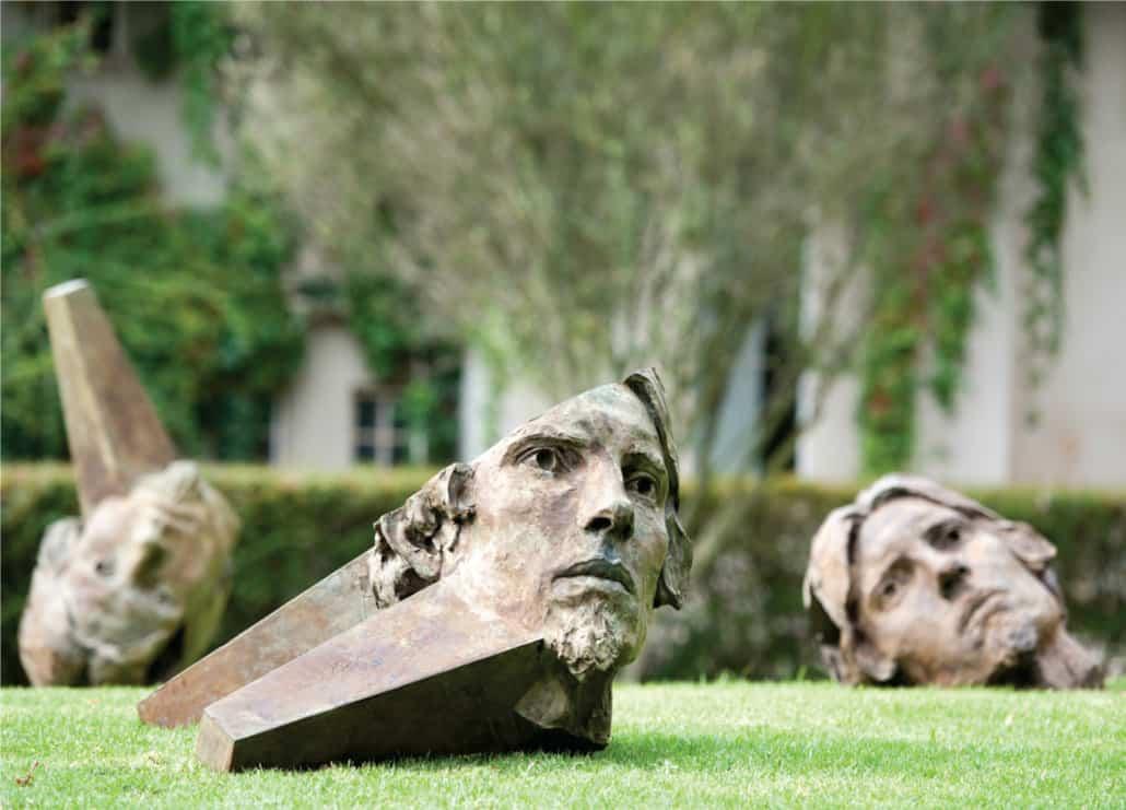 Cobus Haupt, Self, 2014. Bronze sculpture.
