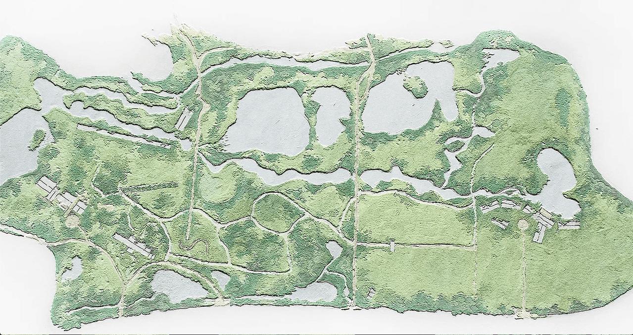 Luftaufnahme des NIROX Sculpture Park.