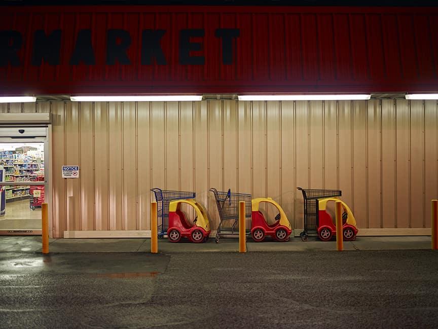 Barry Salzman, Carrelli per supermercati, 2014.