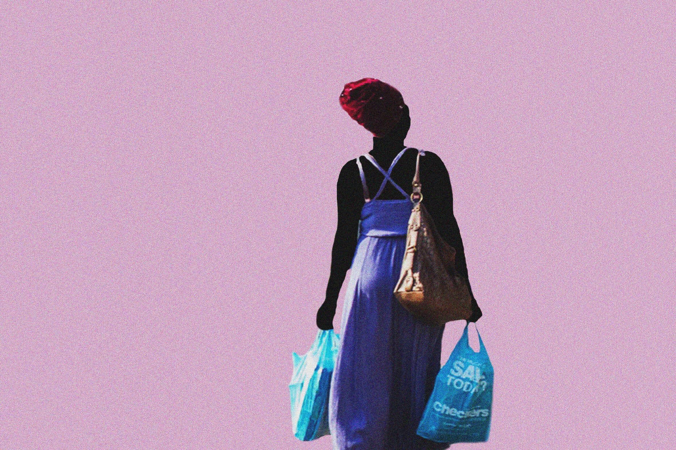 Lusanda Ndita aus der Serie Iqhawe, 2019. Digitale Collage, 60 x 40 cm.