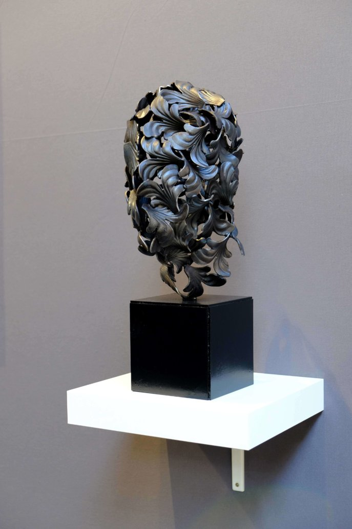 Installation view of Skin (petal), 2019. Iron sculpture, 50 × 29 × 27cm.