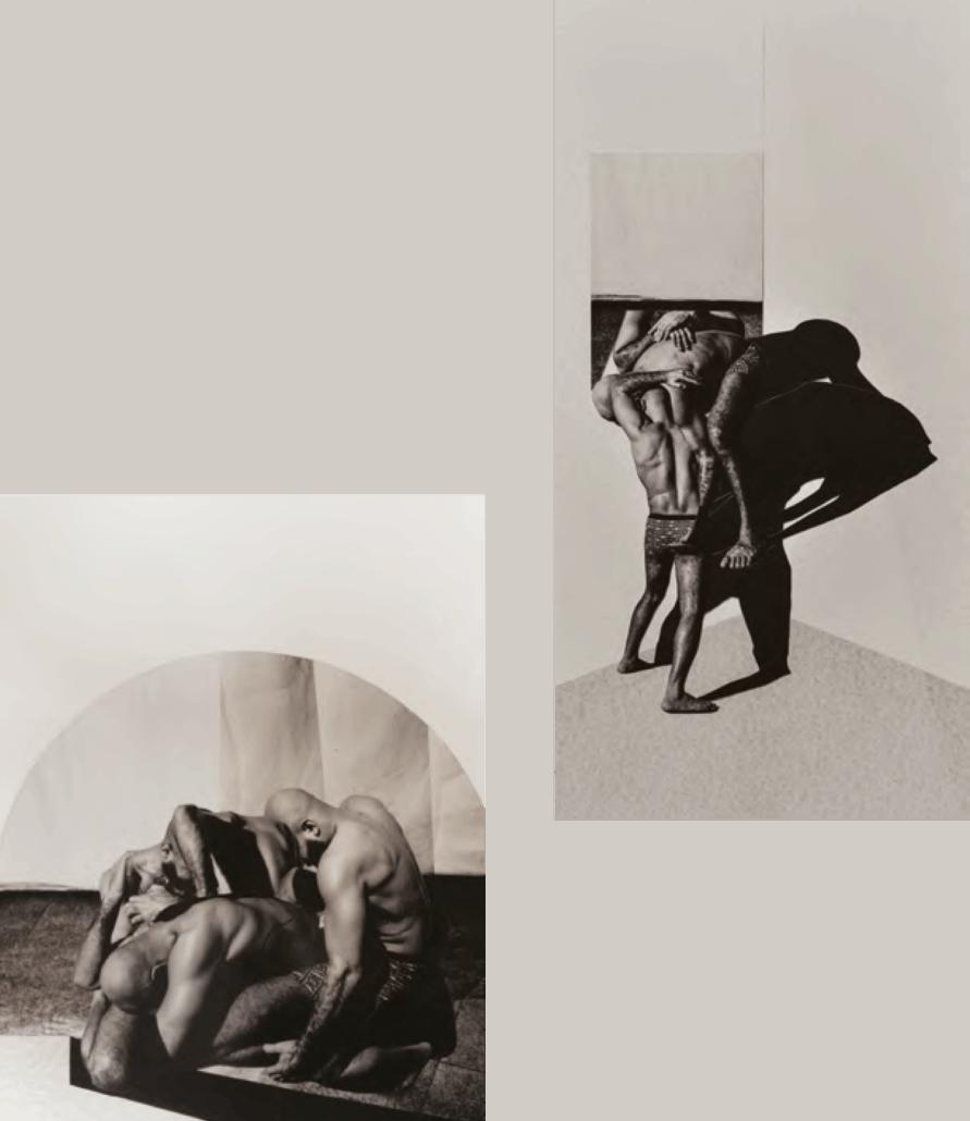 Lo que viene después trae paz a esta inquietud No. 10, 2018, técnica mixta, collage sobre papel.