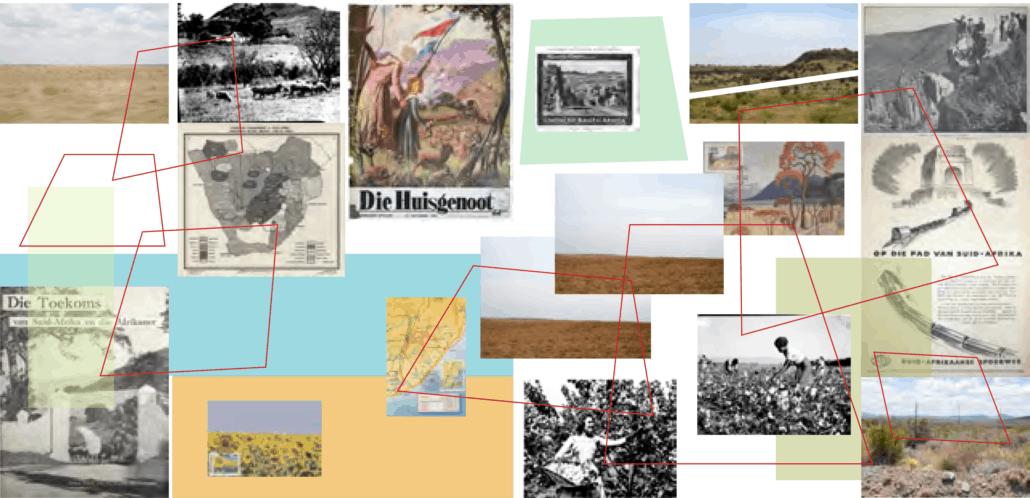 Delineaciones (Veld, Farm, Futures), 2019, collage digital. Cortesía del artista.