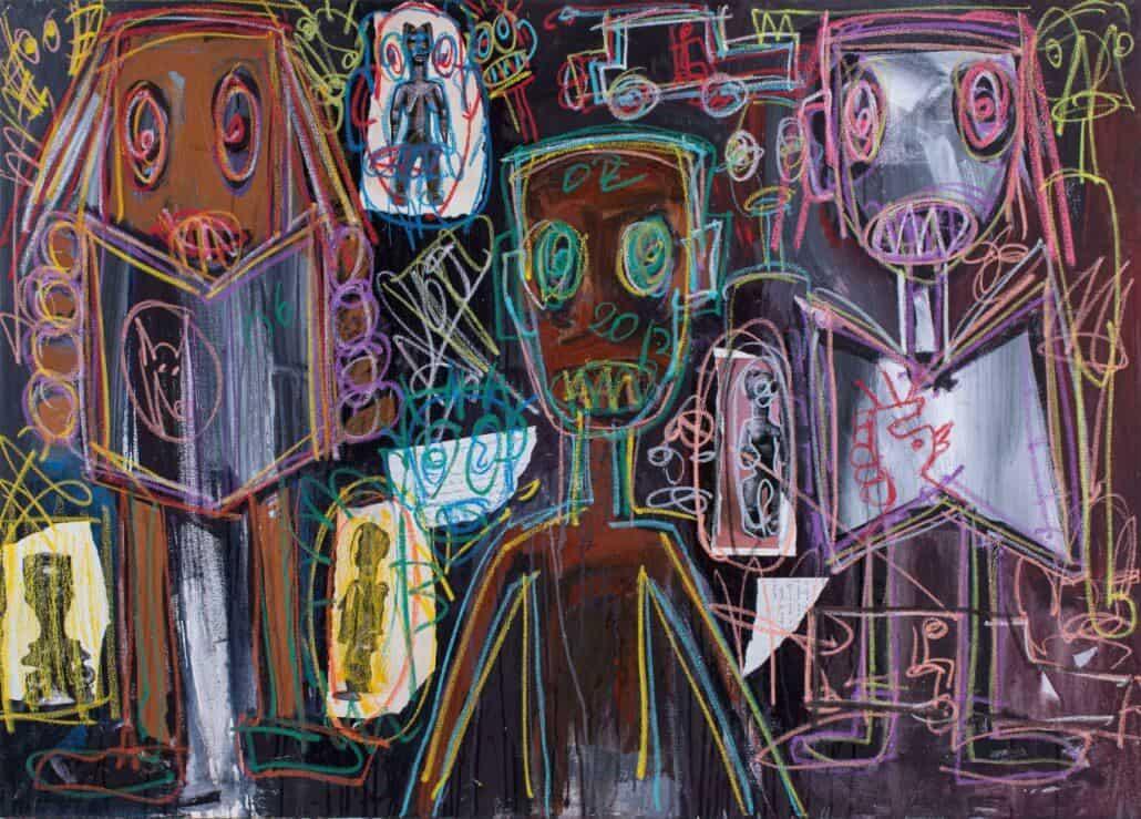 Abdoulaye Diarrassouba (Aboudia), Zonder titel, 2013, ZAR 130 - 000