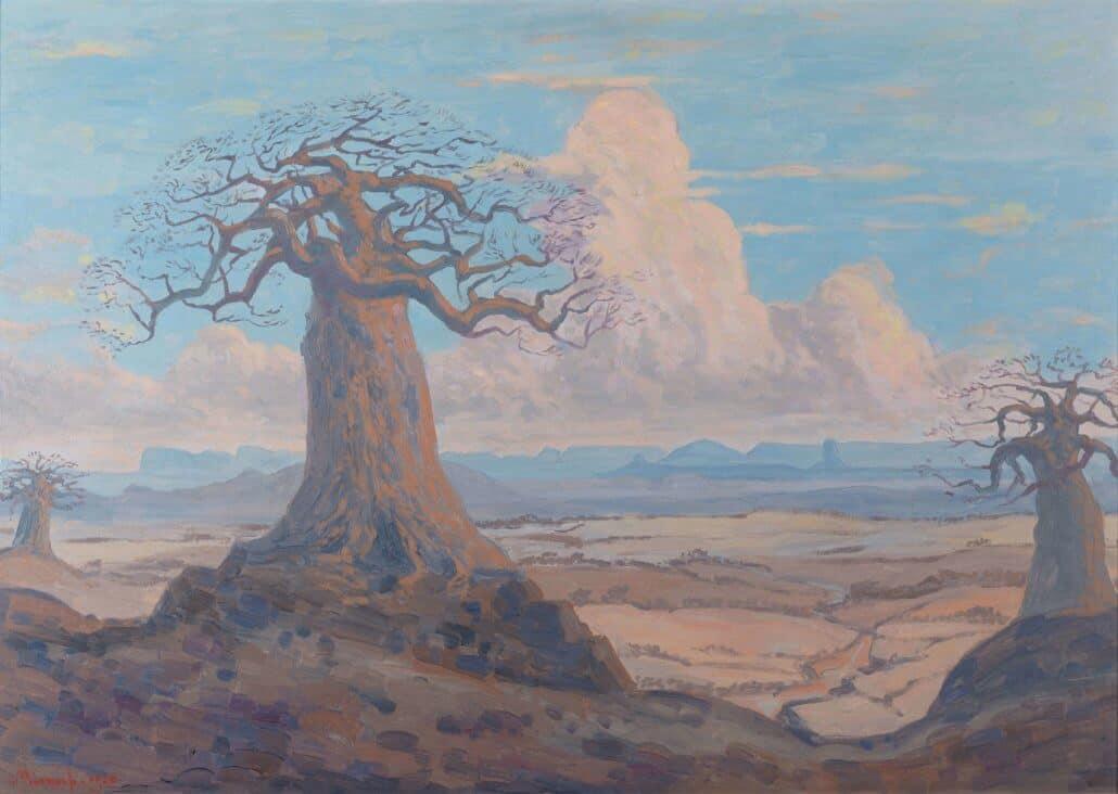 JH Pierneef, Baobabs mit Soutpansberg in der Ferne, 1920, R - 9 Millionen