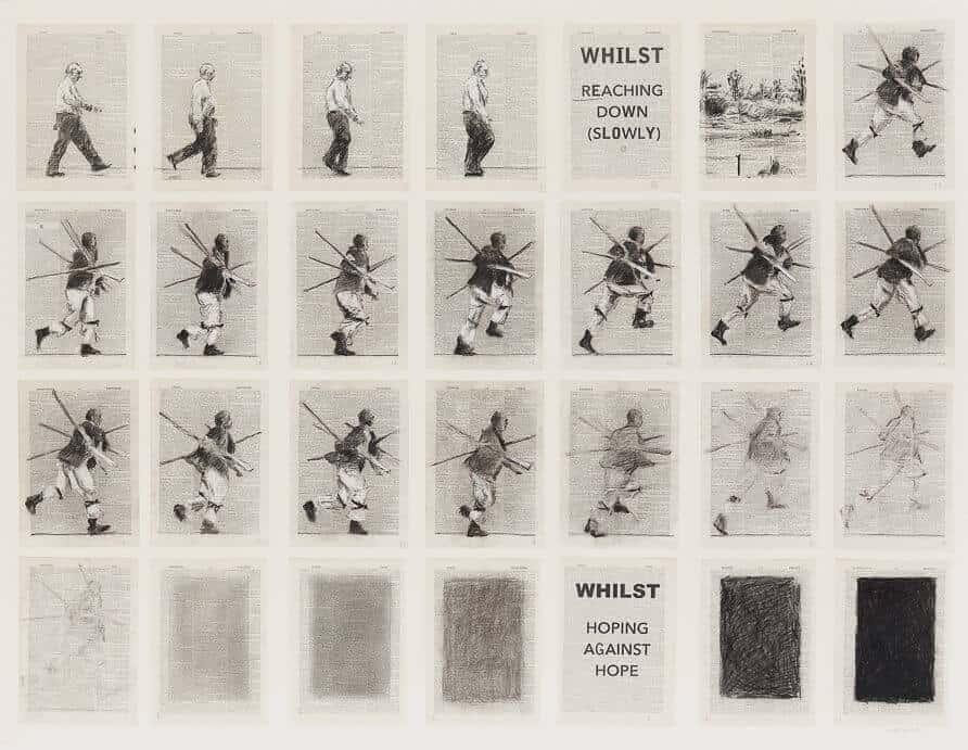 William Kentridge, While Reaching Down (Slowly), 2013, R 3-5 miljoen