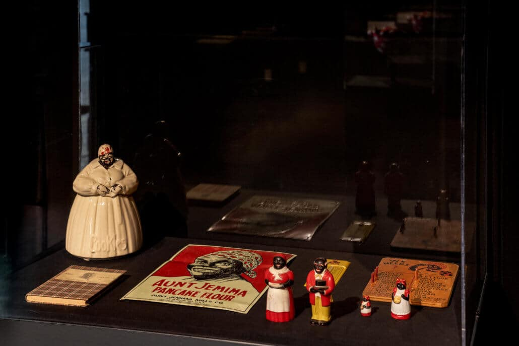Installation view of 'Making Mammy: A Caricature of Black Womanhood, 1840–1940'. All images courtesy of The California African American Museum.