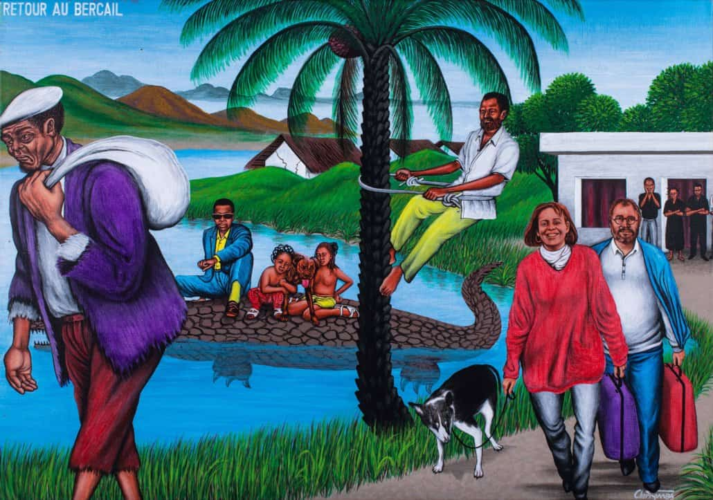 SOUTH AFRICAN AUCTION RECORD Chéri Samba,Retour au Bercail, 1995 |SOLD FOR: R432 440