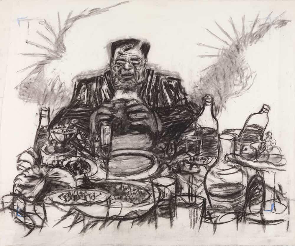 William Kentridge, disegno da Johannesburg, seconda città più grande dopo Parigi (Soho Eating), 2.