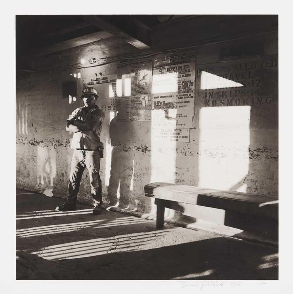 David Goldblatt,A miner waits on the bank to go underground, City Deep Gold Mine, 1996(2_3041)