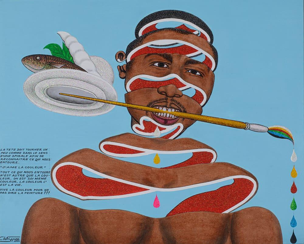 Chéri Samba, J'aime la couleur, 2004.